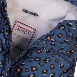 Грейка Minoti в синьо с леопардов десен