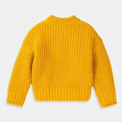 Пуловер Minoti в цвят горчица за момиче