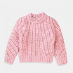 Пуловер Minoti в бледо розово за момиче