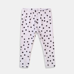 Minoti клин в бяло с черни точки за бебе момиче