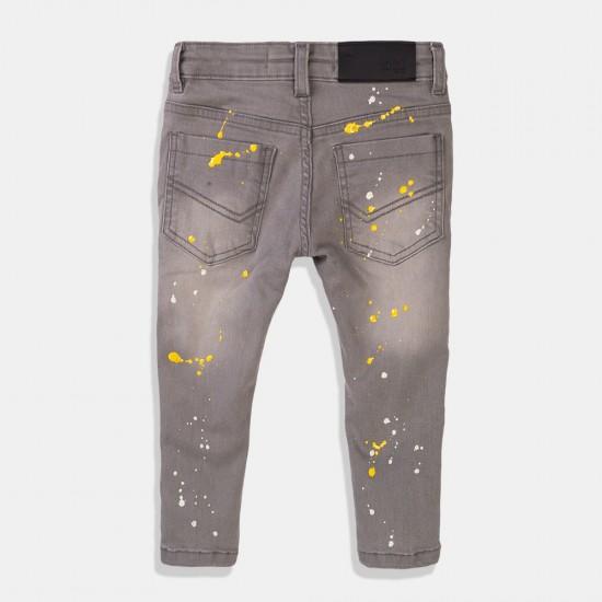 Minoti дънки за момче в сиво с напръскан ефект