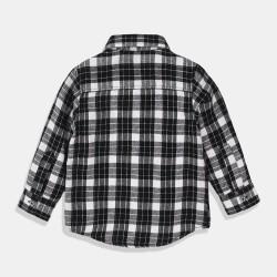 Minoti черна карирана риза