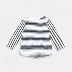 Блуза Minoti в бяло-черно райе