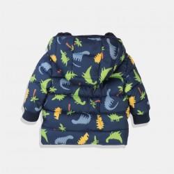 Minoti водоустойчиво яке за момче в тъмно синьо и картинки динозаври
