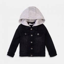 Minoti  черно дънково яке за момче