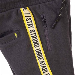Minoti спортен панталон в сиво и жълт кант
