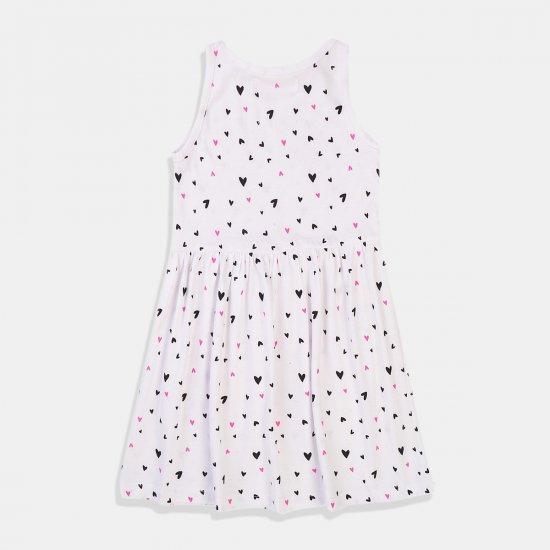 Бяла рокля със сърца Minoti