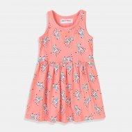 Бебешка рокля в розово със зебри