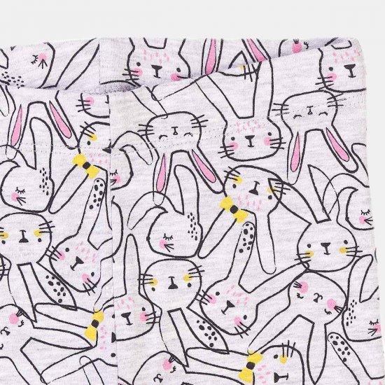 Сив детски клин със зайчета Minoti