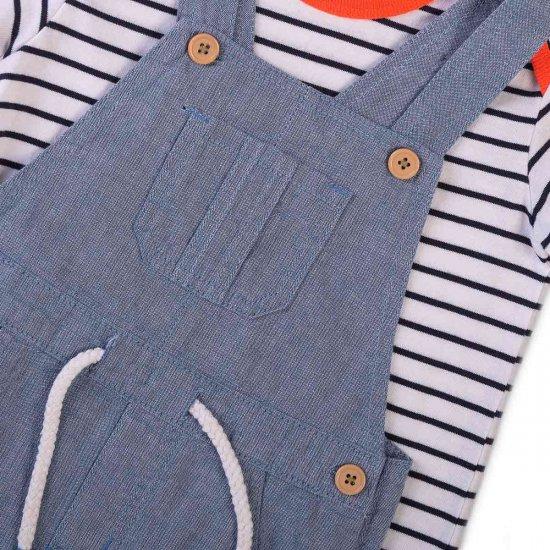 Дънков гащеризон с блуза Minoti за момче