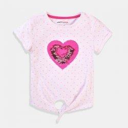Тениска розово сърце от пайети Minoti