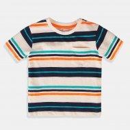 Шарена тениска с джоб за момче Minoti