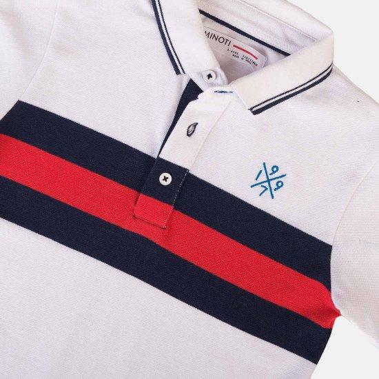 Тениска за момче в бяло/синьо/червено Minoti