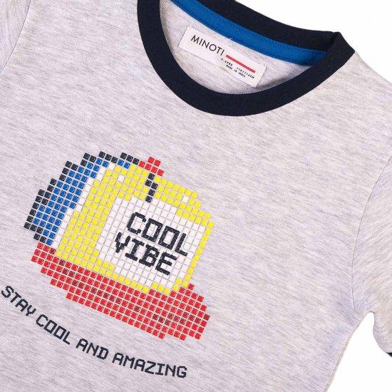 Тениска за момче Cool Vibe сива