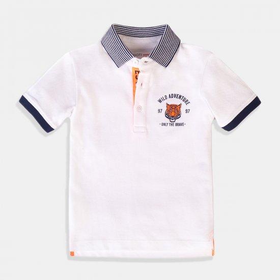Тениска за момче в бяло Wild Adventure