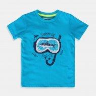 Морско синя тениска за момче Minoti