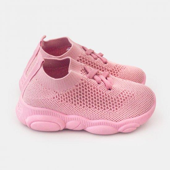 Розови детски маратонки с мрежа