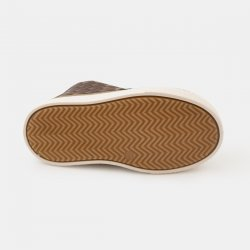 Кецове от естествена кожа кафеви плетеница