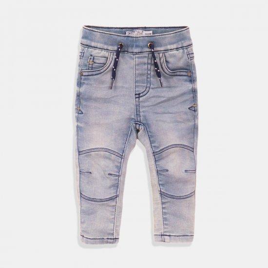 Детски дълги дънки за момче в светло синьо