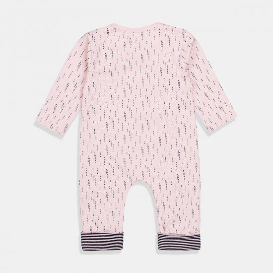 """Бебешки гащеризон с рълъг ръкав в розово """"Bio Organic"""""""