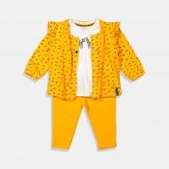 Dirkje комплект в жълто за момиче