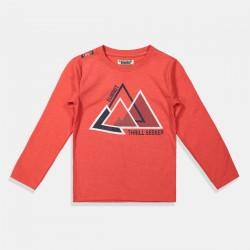 DJ Dutchjeans блуза в червено Триъгълници