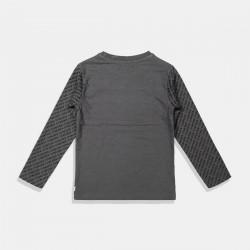 DJ Dutchjeans блуза в графитено сиво за момче