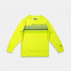 DJ Dutchjeans Блуза в неоново зелено с разноцветни ленти