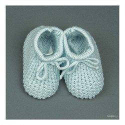 Сини бебешки терлички за новородено