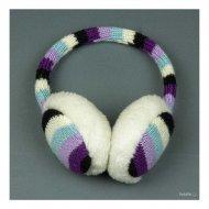 Шарени плетени ушанки с пух
