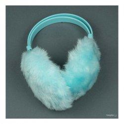 Светло сини ушанки с пух