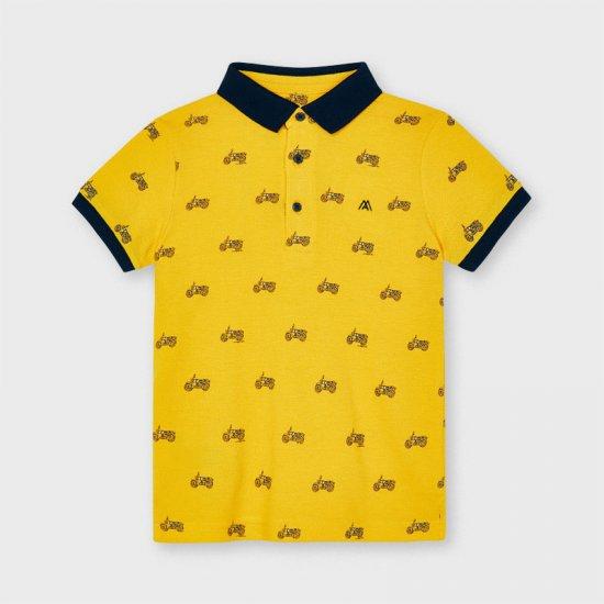 Жълта тениска с яка Mayoral