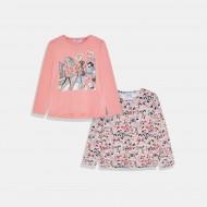 Бледо розов сет тениски Mayoral