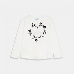 Бяла тениска Сърце - Mayoral