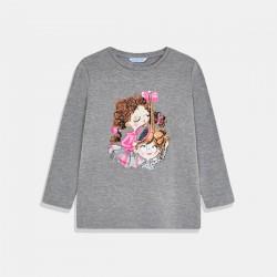 Сива тениска Mayoral за момиче