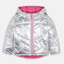 Двулицево яке Mayoral за момиче в сребристо и розово