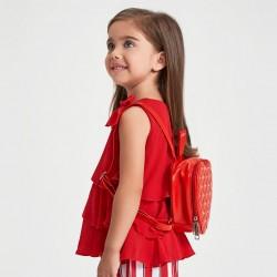 "Детска червена чанта сърце ""Sarabanda"""