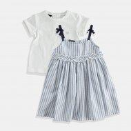 Детски сукман в бяло-синьо