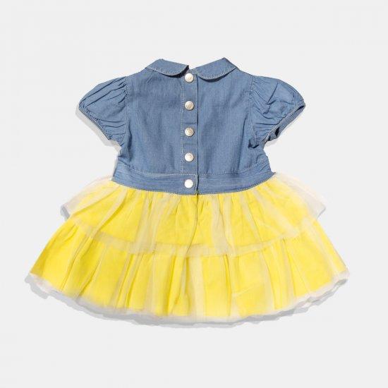 """Дънкова рокля с тюл """"Minibanda"""""""