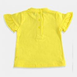 Жълта блуза с къс ръкав за бебе момиче