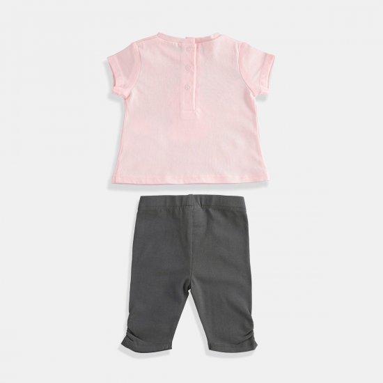 Розов комплект за бебе момиче i DO