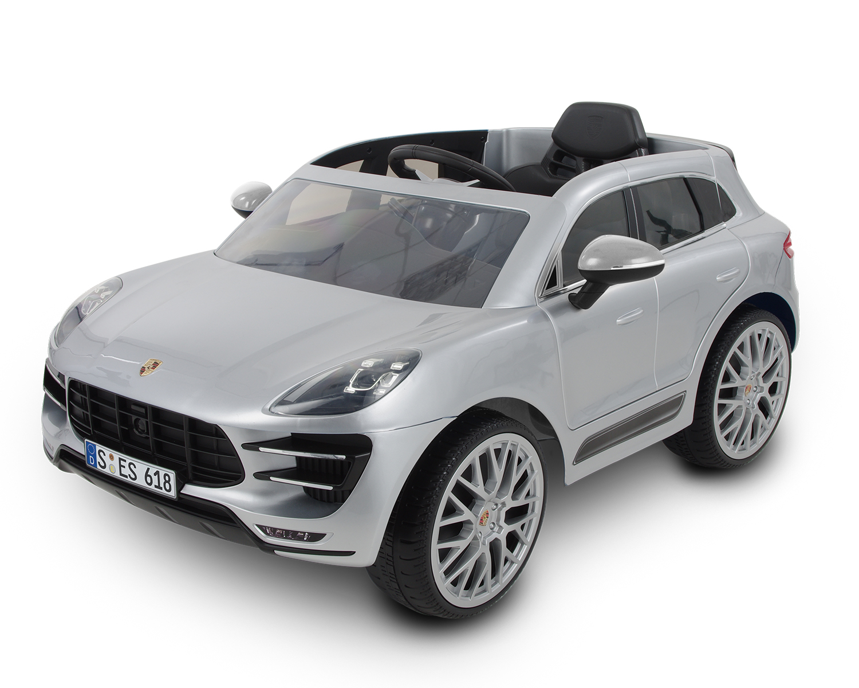 Акумулаторна кола Porsche macan turbo suv, 12v, rc, silver