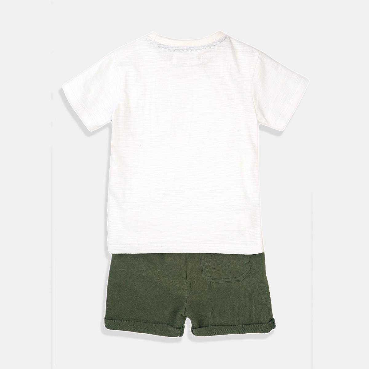 Спортен комплект Minoti за момче в бяло и зелено