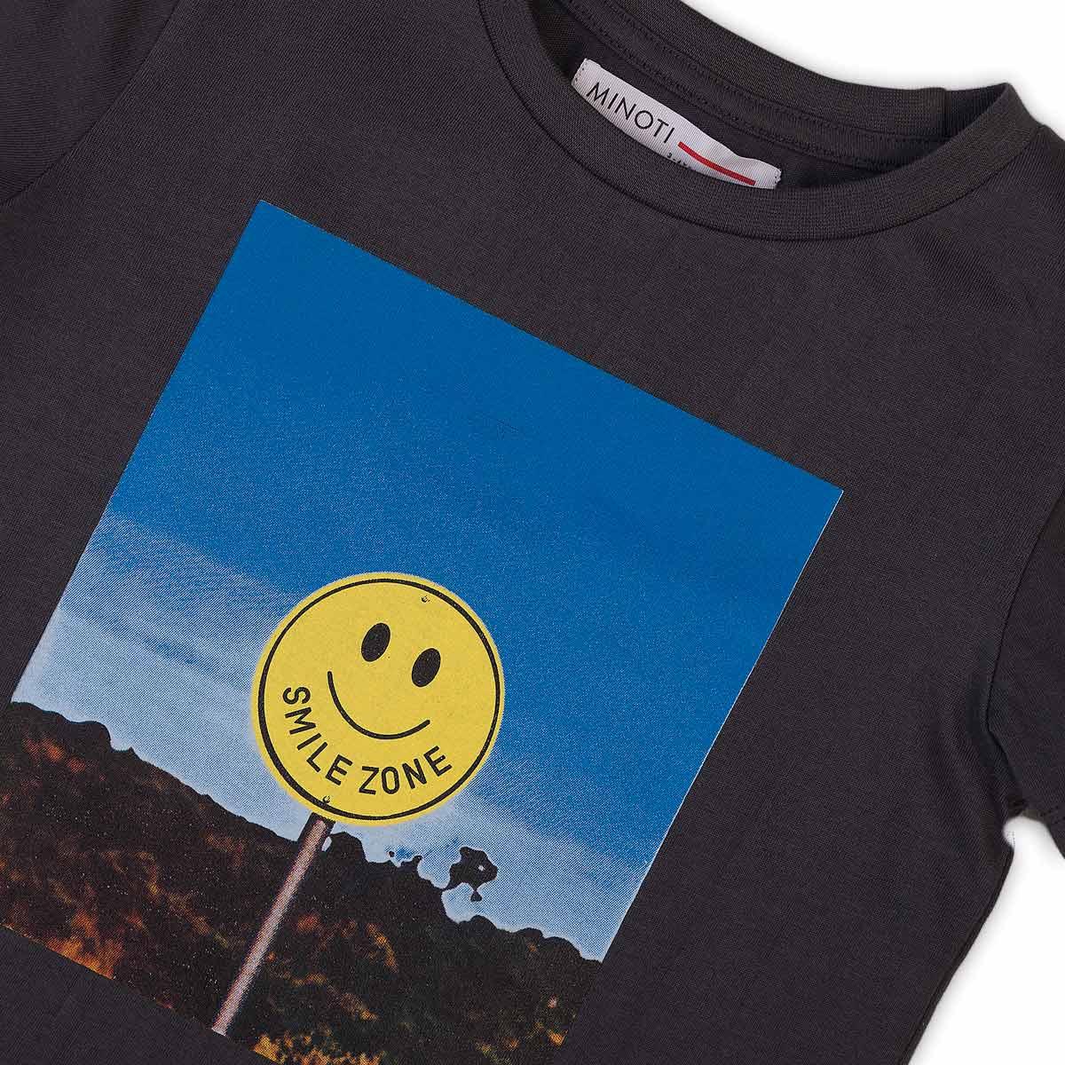Детска тениска за момче в графитено сиво Smile  zone
