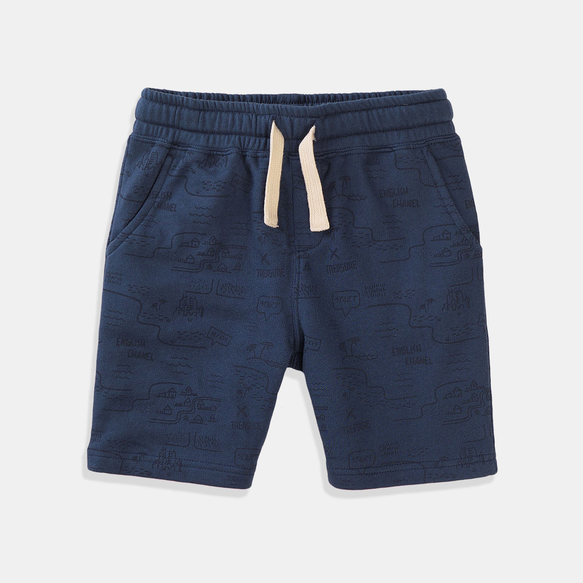 Къси сини панталони за момче