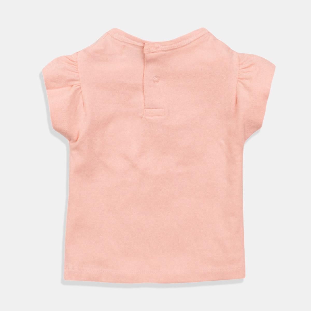 Тениска в цвят прасковено за момиче
