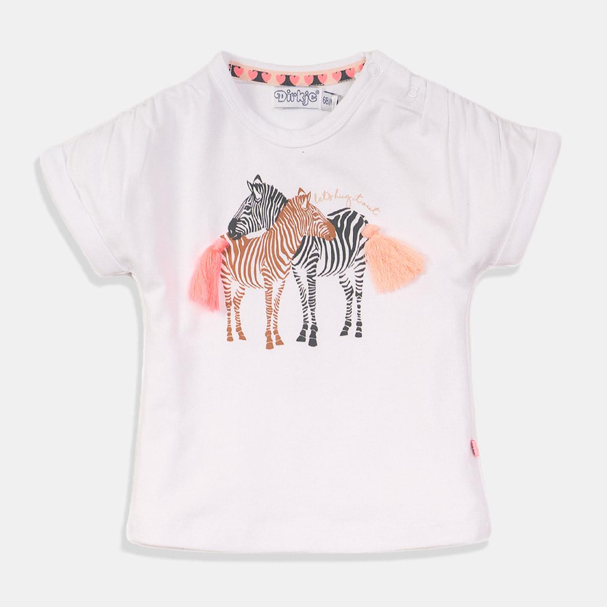 Тениска в бяло Зебра