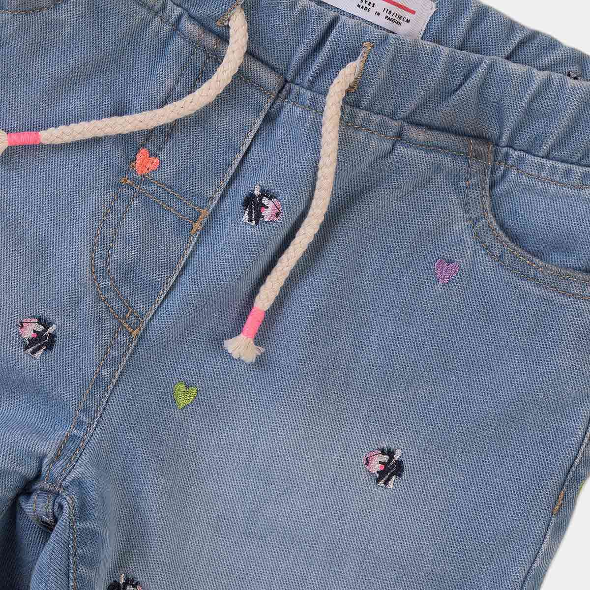 Дънкови къси панталони сърца