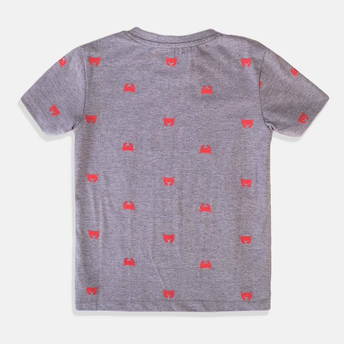 Детска тениска Minoti за момче в сиво и раци