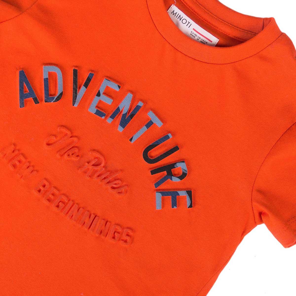 Тениска за момче в оранжево